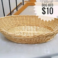 Large wicker dog bed Toronto, M3A 2Y3