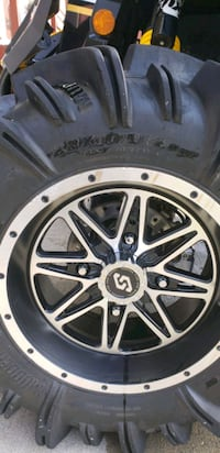 28x10x14 can-am rims and tire  Anchorage, 99505
