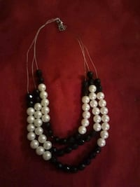 Black and White Bead Layered Necklace Colorado Springs, 80909