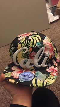 black and multicolored floral California fitted cap Roseville, 95661