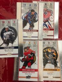 Six assorted hockey trading cards Edmonton, T5A 4G2