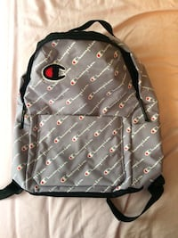gray and black leather backpack Ajax, L1Z 1K9