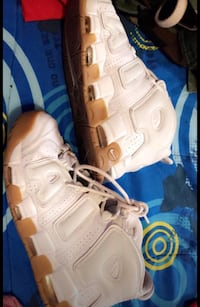 pair of white Nike Air Force 1 shoes Los Angeles, 90008