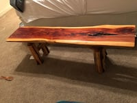 Real wooden crafted bench