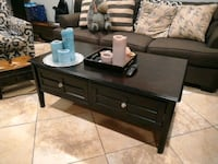 """black wooden 2-drawer coffee table.  49 1/2"""" x 28"""" Los Angeles, 91406"""