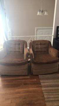 Two chairs. One swivels. 100$ OBO Lanham, 20706