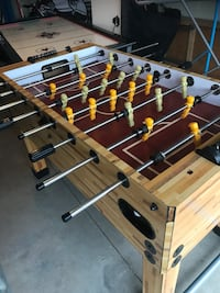 brown and green foosball table Calgary, T3A 5W3