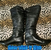 size 7 black leather knee-high boots Las Vegas, 89169