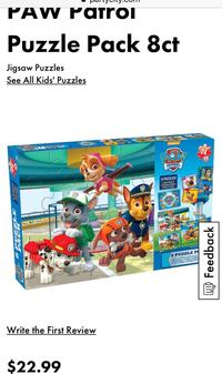 Paw Patrol 8 Puzzle Pack from Party City  Mission, V2V 3E9