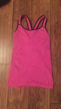 women's pink and black tank top