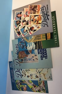 Dodgers year books lot of 5