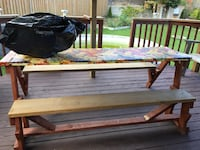 Patio/deck table convert to bench Mississauga, L5N 6T9
