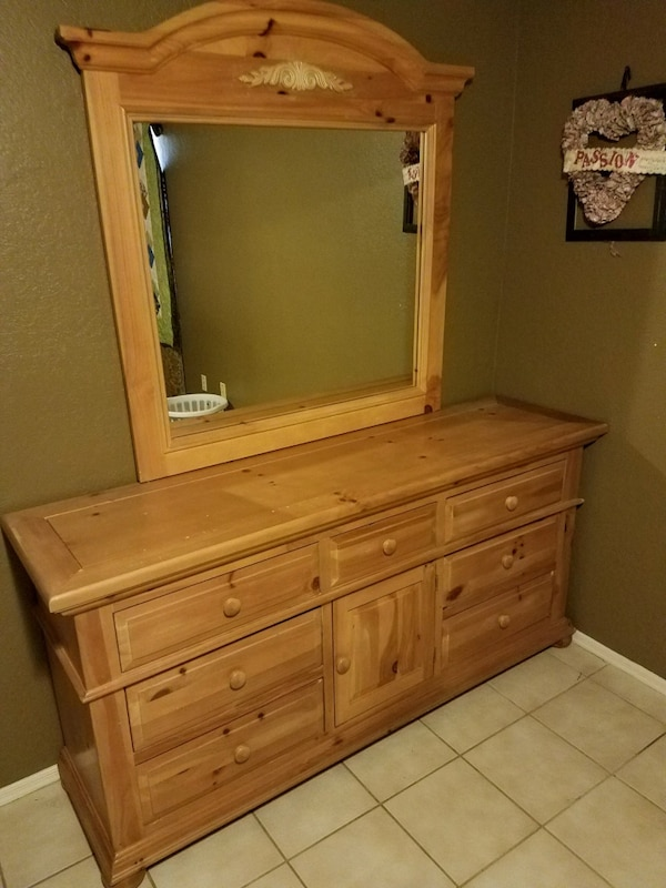 Used Broyhill Fontana Dresser w/ mirror and blanket chest ...