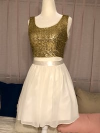 Gold & Ivory 2-Piece Cocktail Dress (size 3/4) Coral Springs, 33065