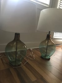 Blue and gold glass table lamps Wilmington, 28409
