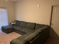 *Gently Used* Gray Left L-Shaped Sectional Charlotte, 28273