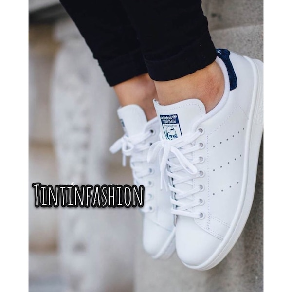 magasin en ligne 58377 06d96 Adidas stan smith white dark blue
