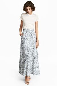 H&M Long Silk Skirt Size 4