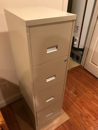 White metal 4-drawer filing cabinet Alexandria, 22312