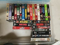 assorted VHS movie cases