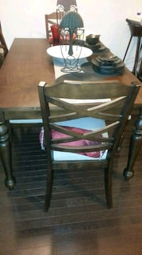 Farm style table...with 4 chairs 1 bench seat Oshawa, L1L 0C1