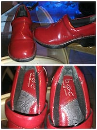 pair of red leather slip on shoes Central Falls, 02863