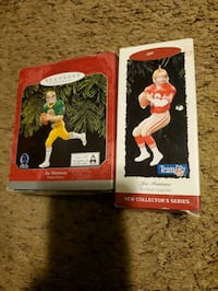 2 Joe Montana hallmark keepsake ornaments  Lansdowne