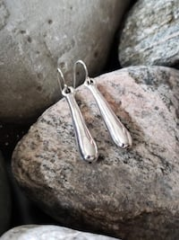 "925 Sterling Silver Earrings!  2"" Long! Burlington"