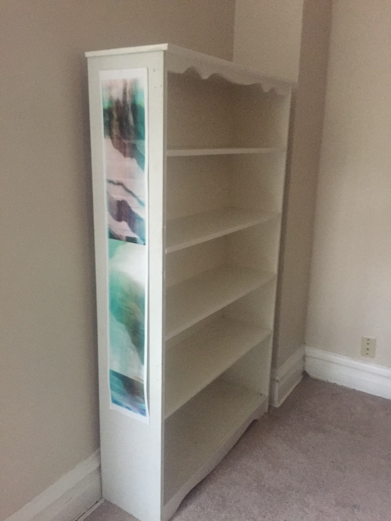 used white wooden bookcase well built quality not particleboard for rh gb letgo com