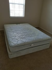 quilted white bed mattress with box spring