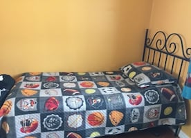 Single bed and mattress set and Headboard