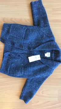 blue and black button-up sweater Surrey, V3S 0R6