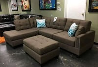 Brand New Coffee Color Linen Sectional Sofa Couch  Silver Spring, 20902