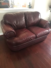 brown leather 2-seat sofa Upper Marlboro, 20774