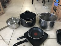 Two cast iron skillets and cooking pots Gretna, 70056