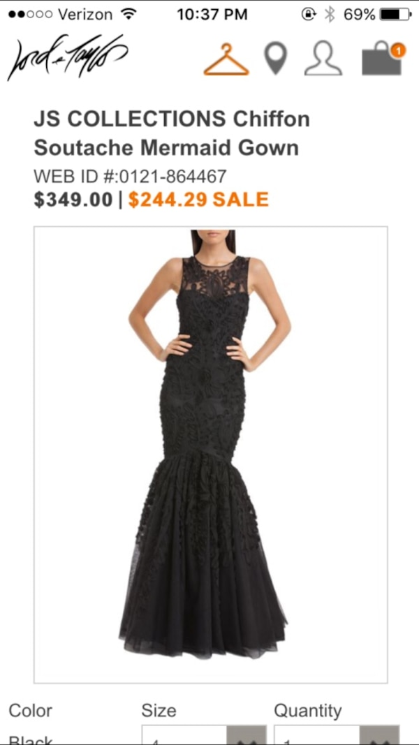 Used Chiffon Mermaid Gown - JS Collections for sale in Clarkstown ...