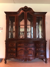 brown wooden china buffet hutch Bowie, 20720