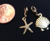 Starfish & Seashell Charms *Gold Plated Sterling Silver  Virginia Beach, 23454