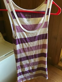 purple and white stripe tank top Bentley, 71407