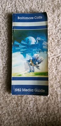 1982 Baltimore Colts Media Guide Nottingham, 21236