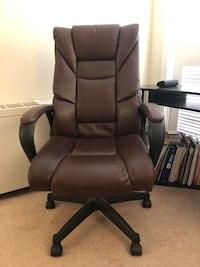 Brown leather office rolling chair Rockville, 20852