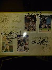 Autographed front Row 91/92 class