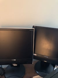 Black 2 computer monitor like new for only 50 for both Pompano Beach, 33060