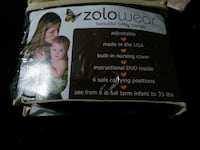 Black silk zolowear baby sling