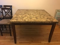 Marble top dining room table with 6 chairs 44 km