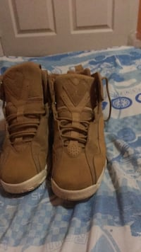 pair of brown suede combat boots Frederick, 21702