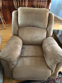 gray suede recliner sofa chair New Bern, 28560