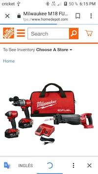 red and black Milwaukee power tool set Hyattsville, 20781