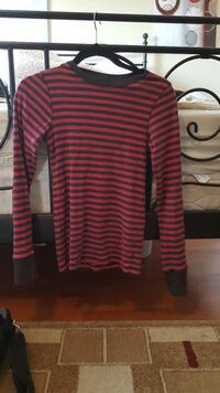 Pink and grey stripes crew neck pullover Surrey, V3X 1T7