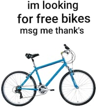 I'm looking for free bikes [READ DESCRIPTION]